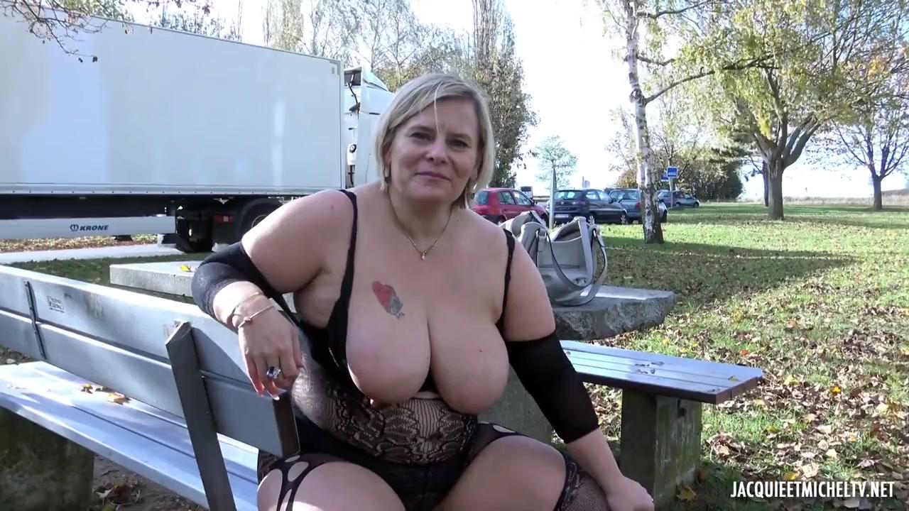 Секс в парке с толстой француженкой